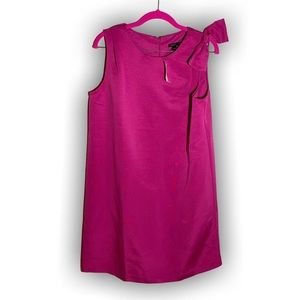 Ann Taylor Pink Bow Shift Dress